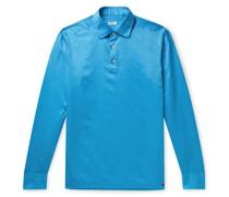 Cotton and Linen-Blend Half-Placket Shirt