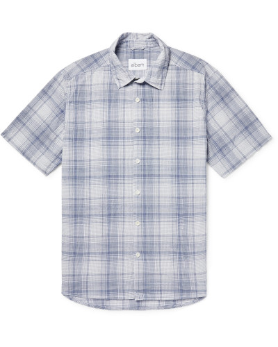 Checked Cotton-Gauze Shirt