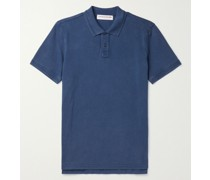 Jarrett Garment-Dyed Cotton-Piqué Polo Shirt