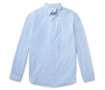 Levon Button-Down Collar Cotton Oxford Shirt