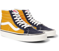 Anaheim Factory Sk8-hi 38 Dx Suede And Canvas High-top Sneakers - Yellow