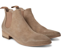 Washed-suede Chelsea Boots