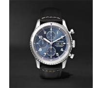 Navitimer 8 Automatic Chronograph 43mm Steel and Leather Watch, Ref. No. A13314101C1X1