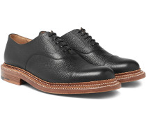 Rupert Triple-welted Cap-toe Pebble-grain Leather Oxford Shoes