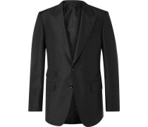 Shelton Mohair and Silk-Blend Suit Jacket