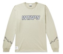 Embroidered Logo-Print Cotton-Blend Jersey T-Shirt