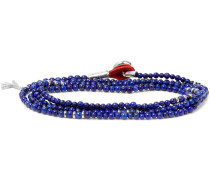 Saracino Bead Silver Wrap Bracelet