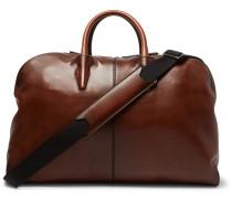 Burnished-leather Holdall