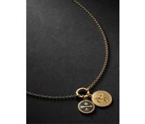 18-Karat Gold, Diamond and Enamel Necklace