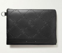 Logo-Embossed Leather Pouch