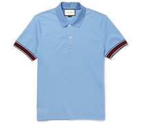 Slim-fit Striped Stretch-cotton Piqué Polo Shirt