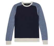 Colour-Block Wool and Cotton-Blend Sweater