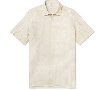 Striped Cotton and Linen-Blend Shirt
