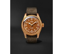 Big Crown Pointer Date Automatic 40mm Bronze, Stainless Steel and Suede Watch, Ref. No. 01 754 7741 3166-07 5 20 74