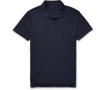 Shaun Slim-fit Linen-blend Polo Shirt