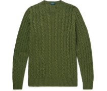 Cable-knit Virgin Wool Sweater