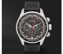 El Primero Sport Stainless Steel And Rubber Watch