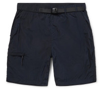 Luther Belted Garment-Dyed Nylon Shorts