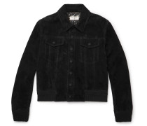 Slim-fit Suede Trucker Jacket