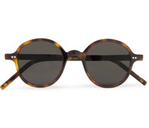 + Cutler and Gross Round-Frame Tortoiseshell Acetate Sunglasses