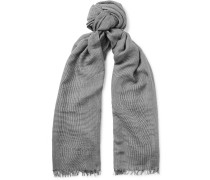 Prince Of Wales Checked Modal, Cashmere And Silk-blend Scarf