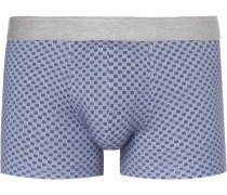Printed Stretch-cotton Boxer Briefs