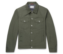 Slim-fit Shell Blouson Jacket