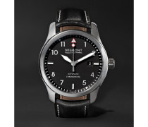 Solo/pb Automatic 43mm Stainless Steel And Leather Watch