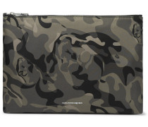 Skull Camouflage-print Shell Pouch