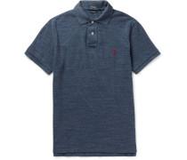 Slim-fit Mélange Cotton-jersey Polo Shirt