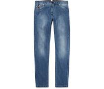 Slim-fit Selvedge Stretch-denim Jeans