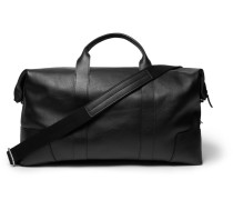Textured-leather Duffle Bag
