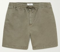 Cotton and Linen-Blend Twill Drawstring Shorts