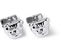 Bulldog Silver Cufflinks