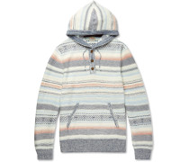 Baja Striped Cotton-blend Jacquard Hoodie