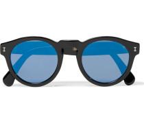 Leonard D-frame Acetate Mirrored Sunglasses