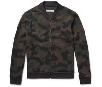 Cascades Camouflage Wool-blend Bomber Jacket