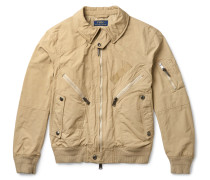 Water-resistant Shell Bomber Jacket