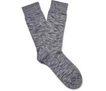 Hampton Mélange Stretch Cotton-blend Socks