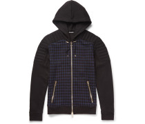 Checked Cotton-jersey Hoodie
