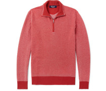 Roadster Striped Cashmere Half-zip Sweater