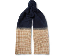 Bouclé And Houndstooth Cashmere-blend Scarf