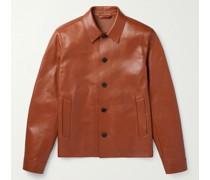 Leather Blouson Jacket