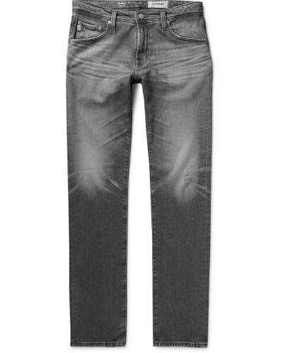 Tellis Slim-fit Distressed Stretch-denim Jeans - Gray