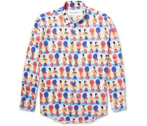 Slim-fit Printed Cotton-voile Shirt