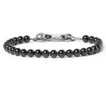 Gunmetal-tone Onyx Bracelet