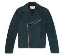 Axl Leather-panelled Suede Biker Jacket