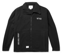 Forester Logo-Appliquéd Embroidered Fleece Zip-Up Sweatshirt