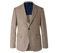 Slim-Fit Houndstooth Linen and Cotton-Blend Blazer