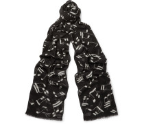 Music Note Wool Scarf